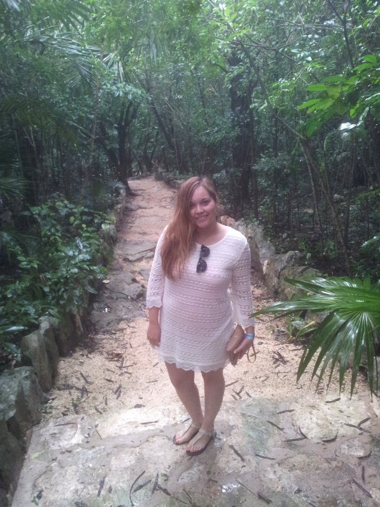 at the cenote azul back in january